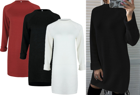 Rib sweater dress - bestel deze dames jurk nu in de sale