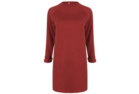Rib sweater dress | Dé perfecte jurk voor dit seizoen Rood