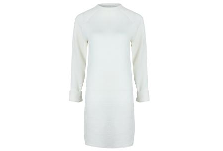 Rib sweater dress | Dé perfecte jurk voor dit seizoen Wit