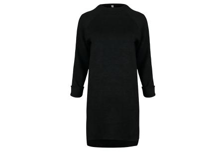 Rib sweater dress | Dé perfecte jurk voor dit seizoen Zwart