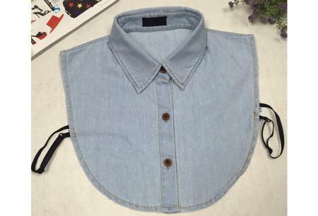 Denim & panterprint blouse kraagjes  | Losse kraagjes voor onder je outfit #1