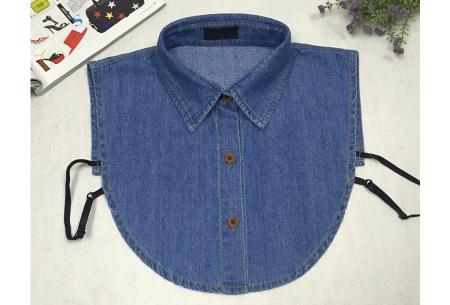 Denim & panterprint blouse kraagjes  | Losse kraagjes voor onder je outfit #2