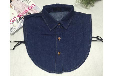 Denim & panterprint blouse kraagjes  | Losse kraagjes voor onder je outfit #3