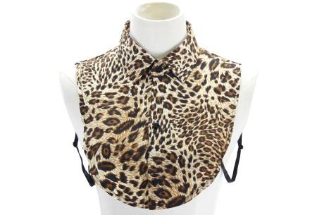 Denim & panterprint blouse kraagjes  | Losse kraagjes voor onder je outfit #4