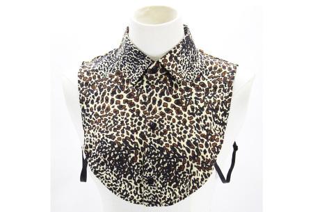 Denim & panterprint blouse kraagjes  | Losse kraagjes voor onder je outfit #5