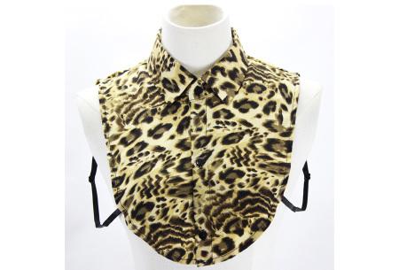 Denim & panterprint blouse kraagjes  | Losse kraagjes voor onder je outfit #7