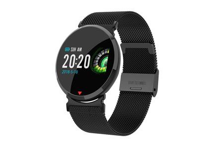 Parya smartwatch in 2 uitvoeringen | Luxe design met vele handige functies RVS zwart