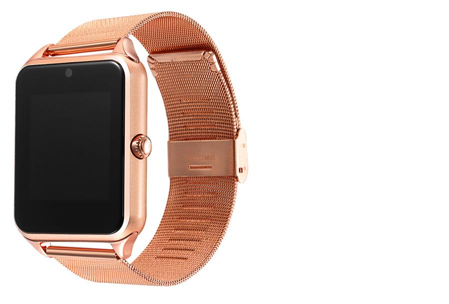 Smartwatch voor Android RVS band - goudkleurig