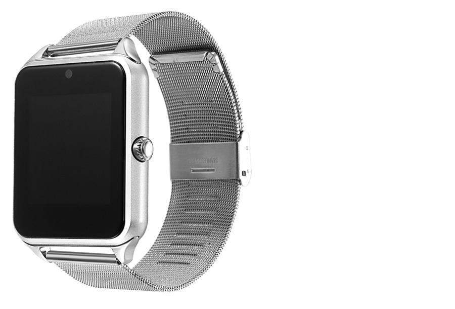 Smartwatch voor Android RVS band - zilverkleurig