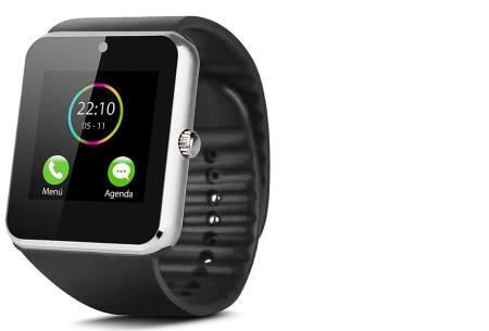 Smartwatch voor Android | Ultieme gadget voor hem en haar siliconen - zilverkleurig