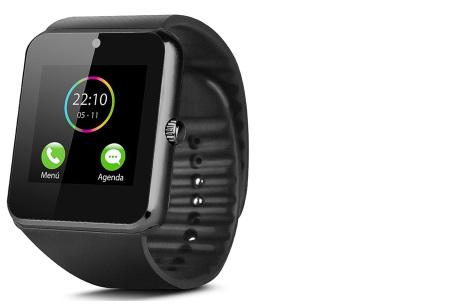 Smartwatch voor Android | Ultieme gadget voor hem en haar siliconen - zwart