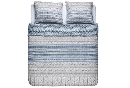 Flanellen dekbedovertrek van Nightlife | Voor een warme en comfortabele nachtrust cosy blue