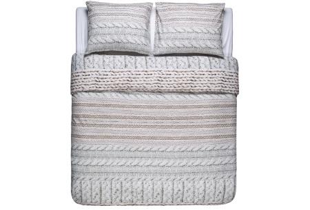 Flanellen dekbedovertrek van Nightlife | Voor een warme en comfortabele nachtrust cosy sand