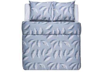 Flanellen dekbedovertrek van Nightlife | Voor een warme en comfortabele nachtrust feathers blue