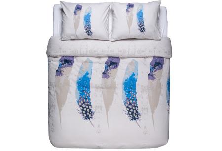Flanellen dekbedovertrek van Nightlife | Voor een warme en comfortabele nachtrust peacock feathers