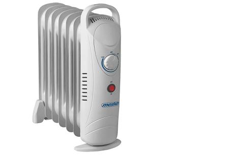Mesko mobiele verwarming | Handige verrijdbare radiator voor het verwarmen van koude ruimtes 7 ribben