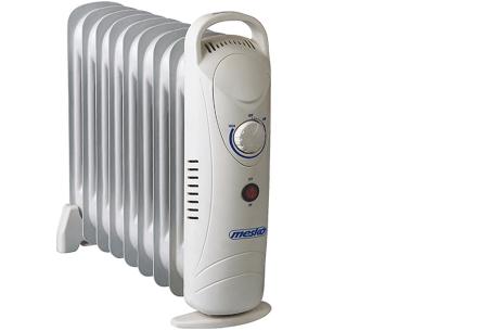 Mesko mobiele verwarming | Handige verrijdbare radiator voor het verwarmen van koude ruimtes 9 ribben