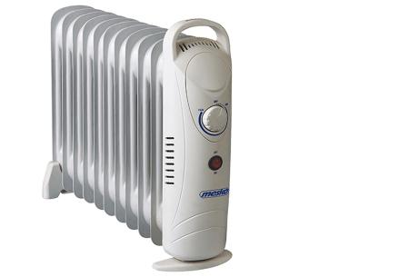 Mesko mobiele verwarming | Handige verrijdbare radiator voor het verwarmen van koude ruimtes 11 ribben