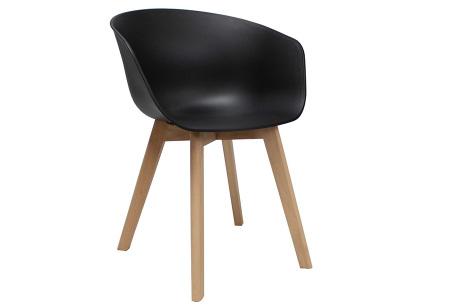 Noan eetkamerstoelen | Tijdloze design stoelen voor optimaal zitcomfort Zwart