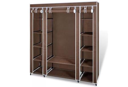 Stoffen kledingkast | Praktisch voor in elk huishouden Bruin XL