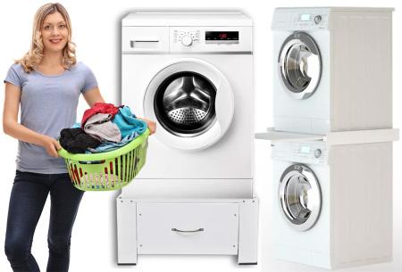 Wasmachineverhoger of tussenstuk nu in de aanbieding met gratis verzending