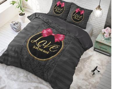 Katoenen dekbedovertrekken van Dreamhouse | Beste slaapcomfort met optimale duurzaamheid only love