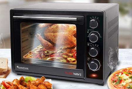 TurboTronic elektrische ovens | Gemakkelijk en snel bakken, braden, opwarmen & grillen
