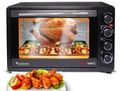 TurboTronic elektrische ovens | Gemakkelijk en snel bakken, braden, opwarmen & grillen TT-EV45