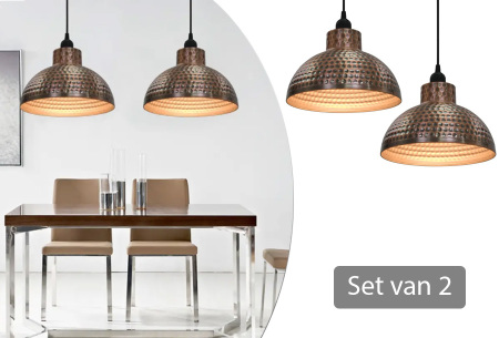 Set van 2 halfronde hanglampen inclusief gratis verzending