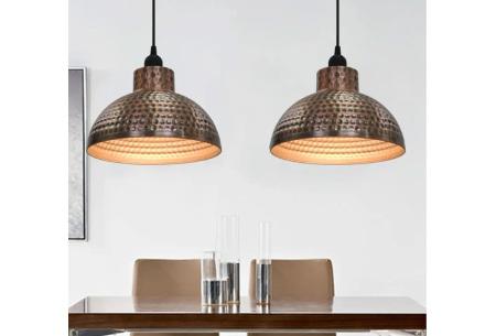 Set van 2 halfronde hanglampen | Koperkleurige eyecatchers voor in jouw huis