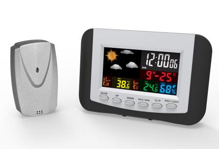 Digitaal weerstation met LCD scherm | Weersvoorspelling voor buiten en binnen