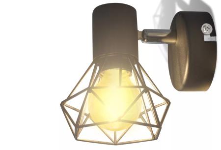 Moderne wandlampen - set van 2 stuks | Stijlvolle design wandverlichting met industrieel tintje