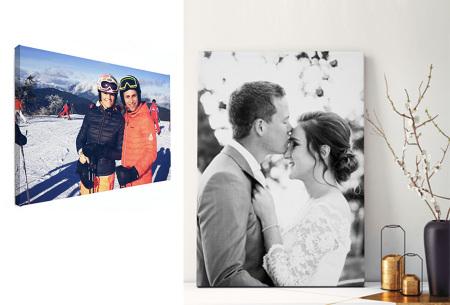 Foto op canvas | Kortingsvoucher; bestel je eigen foto op canvas nu extra voordelig