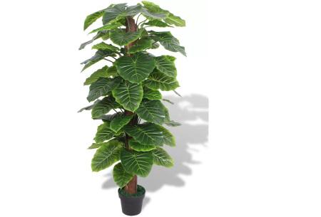 Realistische kunstplanten | Fleur jouw huis op! - incl. gratis verzending taro - 145 cm