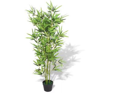 Realistische kunstplanten | Fleur jouw huis op! - incl. gratis verzending bamboe - 120 cm