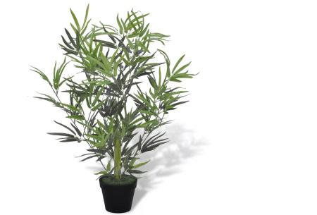 Realistische kunstplanten | Fleur jouw huis op! - incl. gratis verzending bamboe - 80 cm