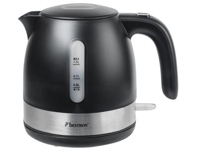 Bestron waterkoker | Prachtig design & razendsnel gekookt water! zwart