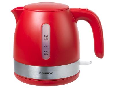 Bestron waterkoker | Prachtig design & razendsnel gekookt water! rood