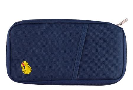 Reistasje verkrijgbaar in 9 kleuren | Bewaar al je vakantiedocumenten netjes bij elkaar Donkerblauw