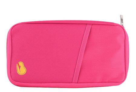 Reistasje verkrijgbaar in 9 kleuren | Bewaar al je vakantiedocumenten netjes bij elkaar Fuchsia