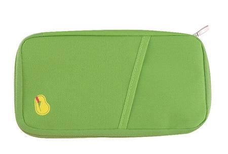 Reistasje verkrijgbaar in 9 kleuren | Bewaar al je vakantiedocumenten netjes bij elkaar Groen