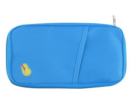 Reistasje verkrijgbaar in 9 kleuren | Bewaar al je vakantiedocumenten netjes bij elkaar Lichtblauw
