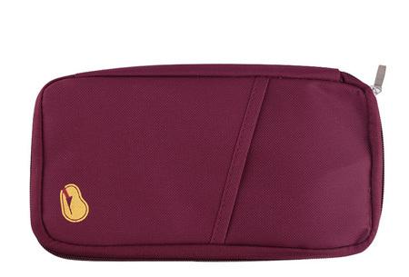 Reistasje verkrijgbaar in 9 kleuren | Bewaar al je vakantiedocumenten netjes bij elkaar Wijnrood