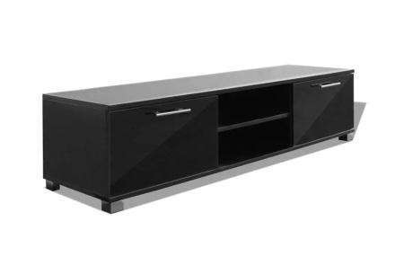 Hoogglans TV-meubel | Voor een stijlvolle, moderne uitstraling in elk interieur Zwart 120 cm
