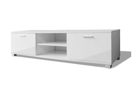 Hoogglans TV-meubel | Voor een stijlvolle, moderne uitstraling in elk interieur Wit 140 cm