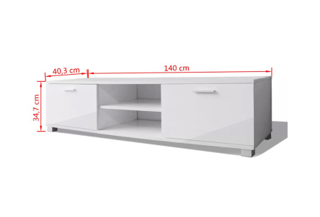Hoogglans TV-meubel | Voor een stijlvolle, moderne uitstraling in elk interieur