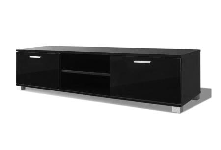 Hoogglans TV-meubel | Voor een stijlvolle, moderne uitstraling in elk interieur Zwart 140 cm
