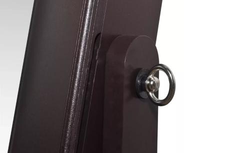 Sieradenkast met spiegel | Stijlvol je sieraden opbergen! Staand model of deurhanger
