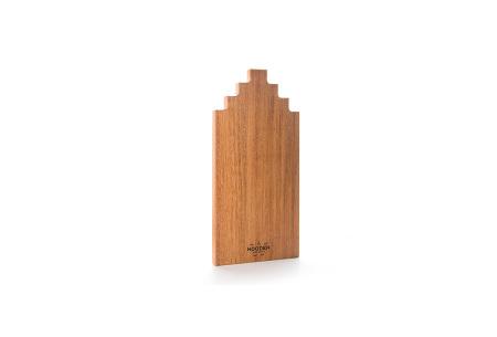 Wooden Amsterdam houten serveerplanken   In de vorm van een grachtenpand Afzelia 40 cm