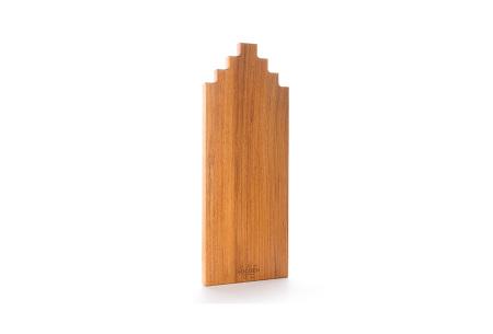 Wooden Amsterdam houten serveerplanken   In de vorm van een grachtenpand Afzelia 50 cm